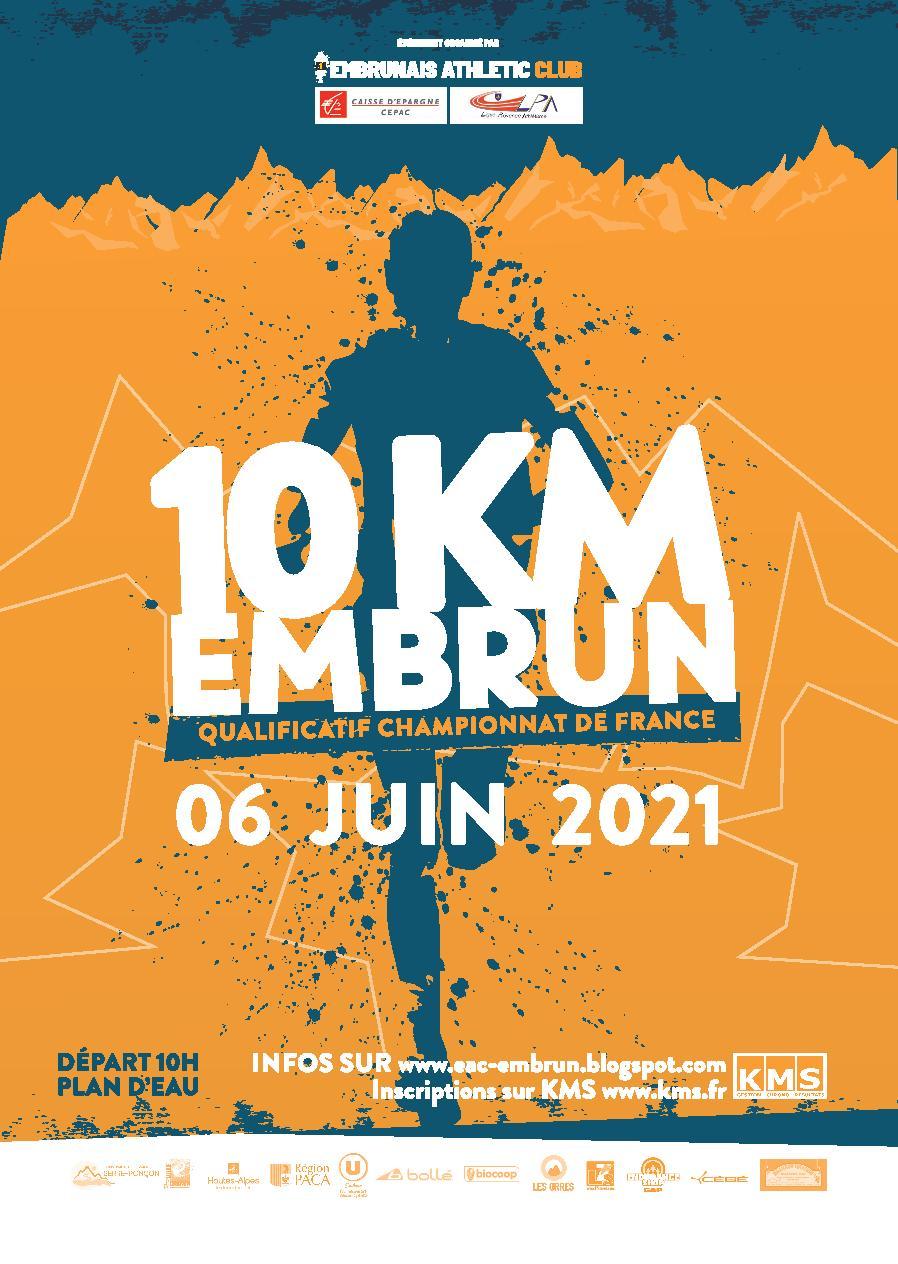 Affiche 10 km d´EMBRUN