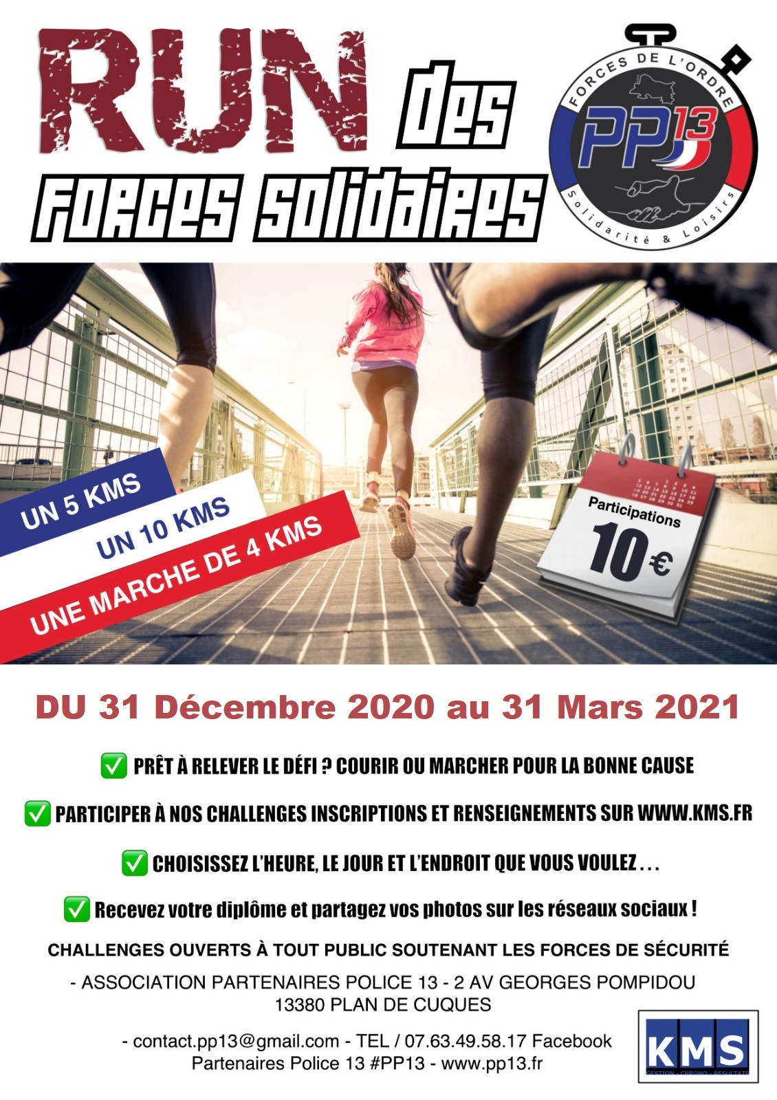 Affiche RUN DES FORCES SOLIDAIRES