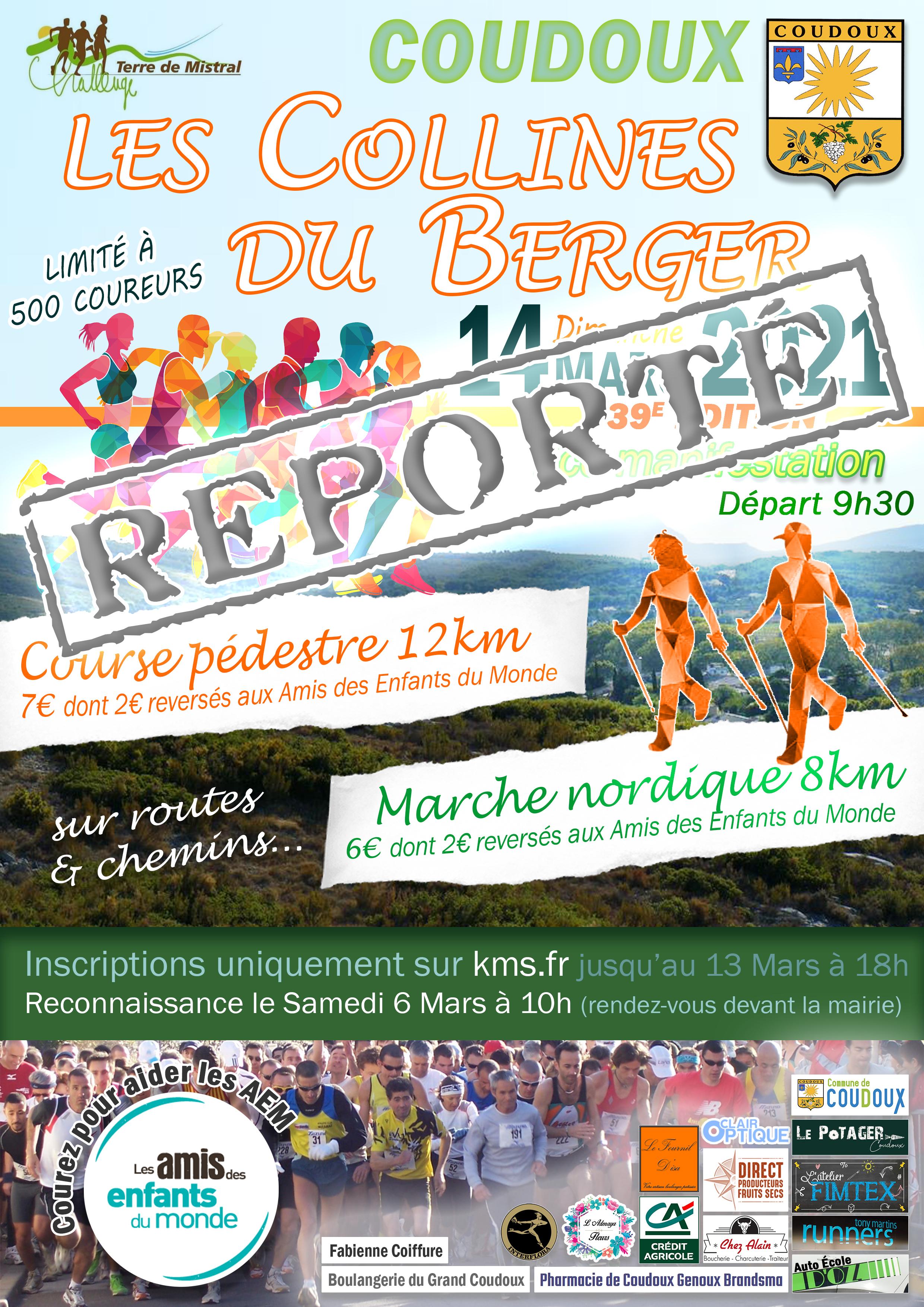 Affiche Les Collines du Berger 2021 - 39eme Edition