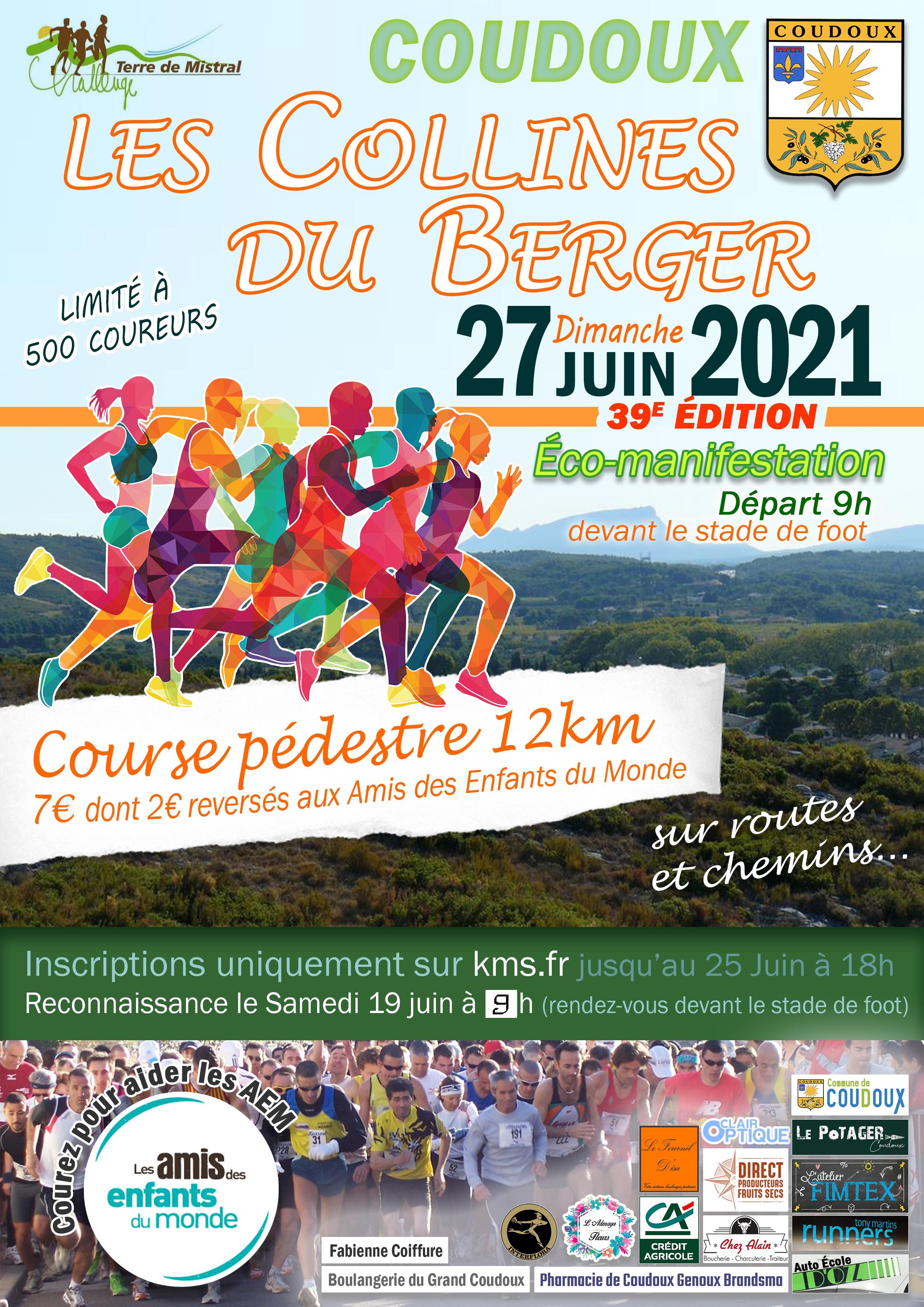 Les Collines du Berger 2021 - 39eme Edition